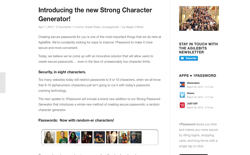 screenshot 1Password Strong Character Generator