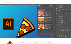 screenshot Adobe Illustrator AIFood