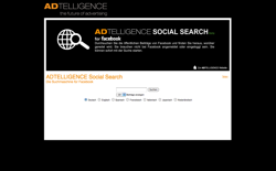 screenshot Adtelligence Social Search