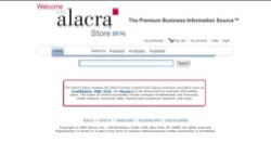 screenshot Alacra Store