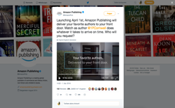 screenshot Amazon Publishing Authors Delivery