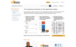 screenshot TCO Comparison Calculator for Web Applications