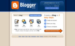 screenshot Blogger