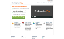 screenshot BookmarkerPro