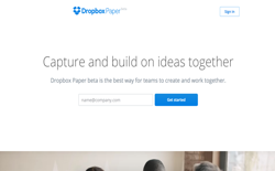 screenshot Dropbox Paper