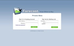 screenshot Farecast