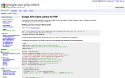 screenshot google-api-php-client