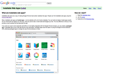screenshot Google Installable Web Apps