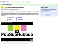 screenshot Google PubSubHubbub