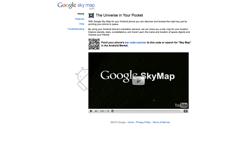 Screenshot google sky map
