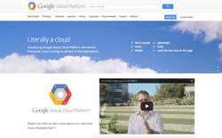 screenshot Google Actual Cloud Platform