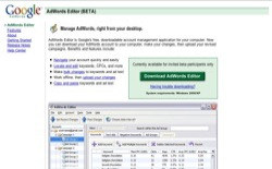 screenshot Google AdWords Editor