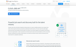 screenshot Google Cloud Jobs API