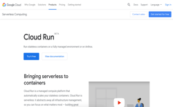 screenshot Google Cloud Run