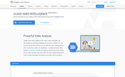 screenshot Google Cloud Video Intelligence API