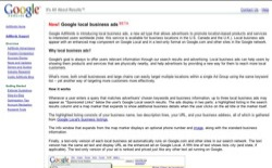 screenshot Google local business ads