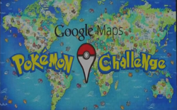 screenshot Google Maps Pokémon Challenge