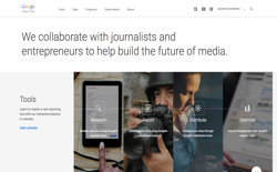 screenshot Google News Lab