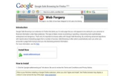 screenshot Google Safe Browsing for Firefox