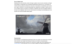 screenshot Google Wind