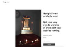 screenshot Google Shrine