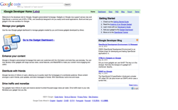 screenshot iGoogle Developer Home