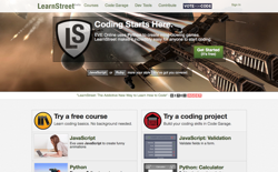 screenshot LearnStreet