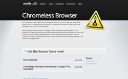 screenshot Chromeless Browser