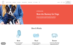 screenshot Rent the Runway for Dogs