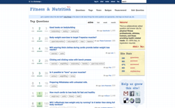 screenshot Stack Exchange Fitness and Nutrition