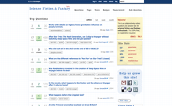 screenshot Stack Exchange Science Fiction and Fantasy