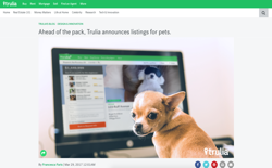 screenshot Trulia Pet Listings