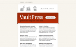 screenshot VaultPress
