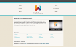 screenshot WebPlatform