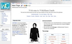 screenshot WikiMusicGuide