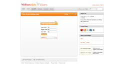 screenshot Wolfram|Alpha Color of your birthday date