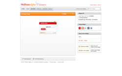 screenshot Wolfram|Alpha Nutrition Facts