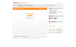 screenshot Wolfram|Alpha Random Word Generator