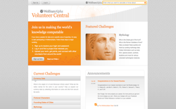 screenshot Wolfram|Alpha Volunteer Central