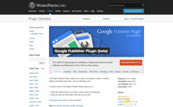 screenshot Google Publisher Plugin