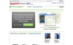 screenshot Yahoo! Trip Planner